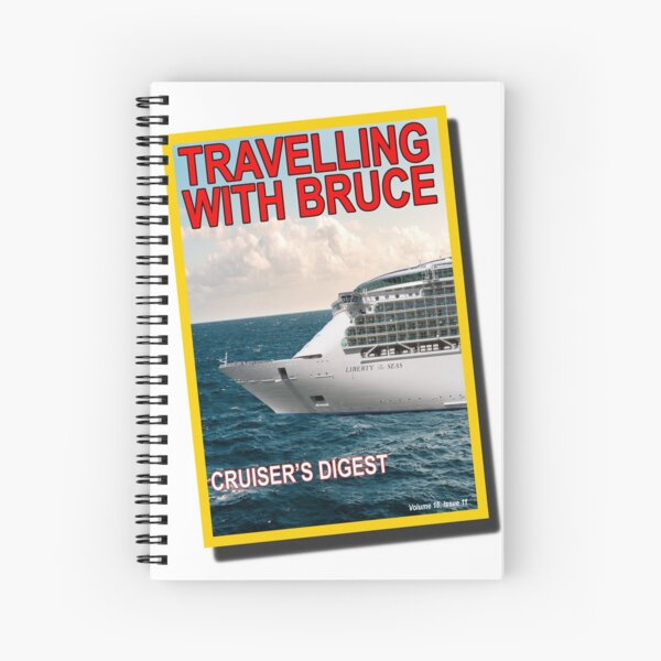 Travelling with Bruce Magazine Cover Logo Spiral Notebook