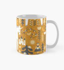 Gelbe + graue Folkstory mit Einhorn Tasse (Standard)