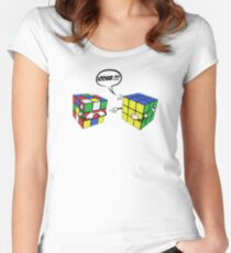rubik's magic cube Women's Fitted Scoop T-Shirt