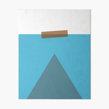 Gonna Need a Bigger Boat Minimalist Design by Gabby Kere Art Board Print