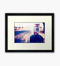 Behind every successful person…is a substantial amount of coffee. Framed Print