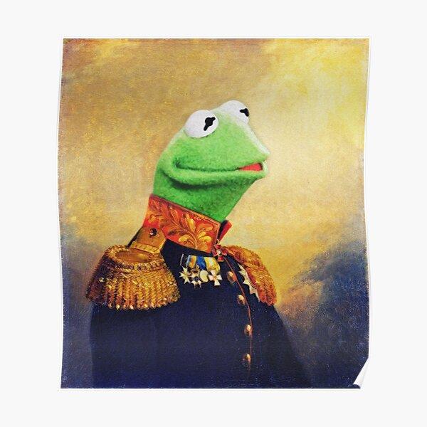 Kermit the Frog Retro Portrait Poster