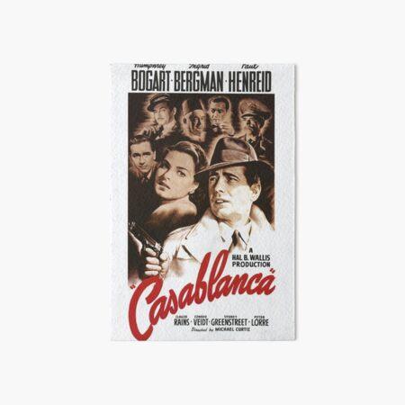 Affiche classique du film Casablanca Impression rigide