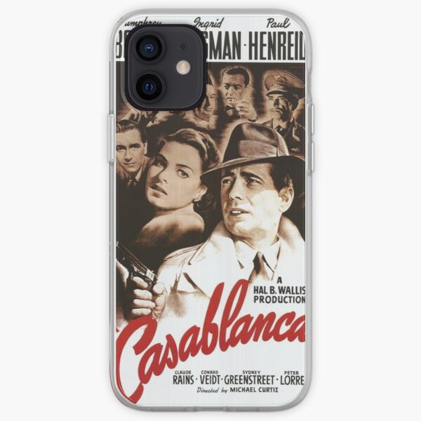 Affiche classique du film Casablanca Coque souple iPhone