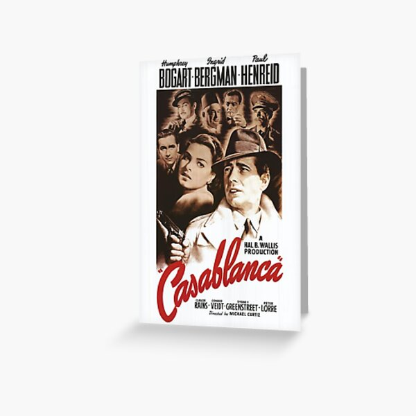 Casablanca Classic Movie Poster Greeting Card