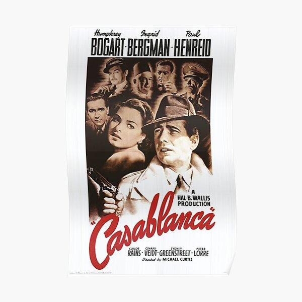 Affiche classique du film Casablanca Poster