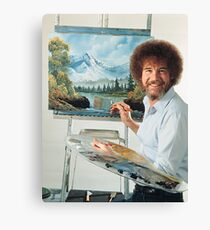 Bob Ross Painting Canvas Print