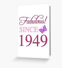 1949 fabelhafter Geburtstag Grußkarte