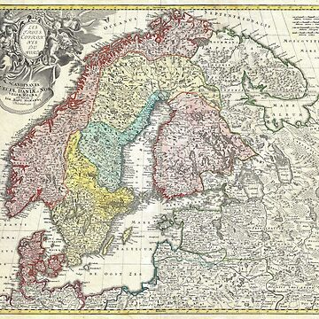 Old map of Scandinavia by franceslewis