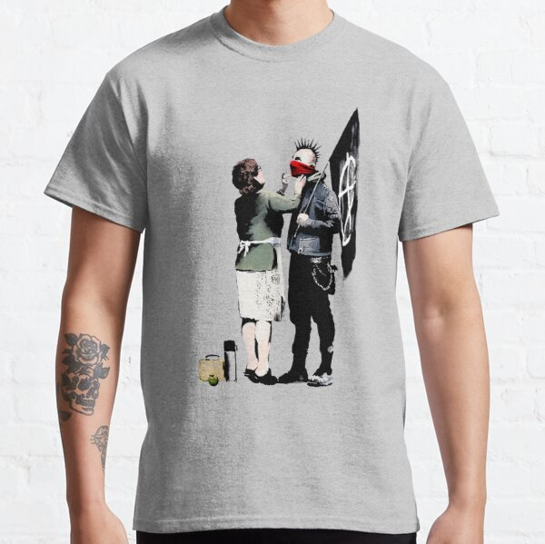 Banksy, Anarchist Punk And His Mother Artwork, Posters, Prints, Bags, Tshirts, Men, Women, Kids Classic T-Shirt