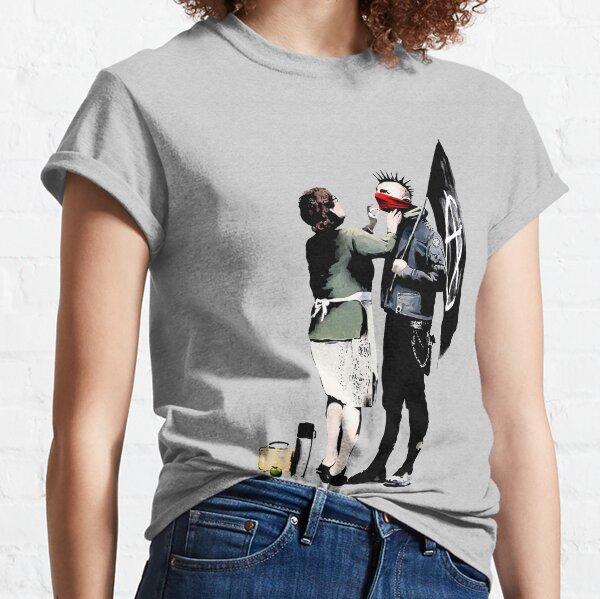 Banksy, Anarchist Punk und seine Mutter Artwork, Poster, Drucke, Taschen, T-Shirts, Männer, Frauen, Kinder Classic T-Shirt