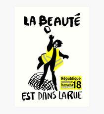 Lámina artística Gilets Jaunes - La Beaute est dans la rue