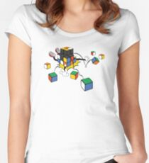 magic cube fall Women's Fitted Scoop T-Shirt