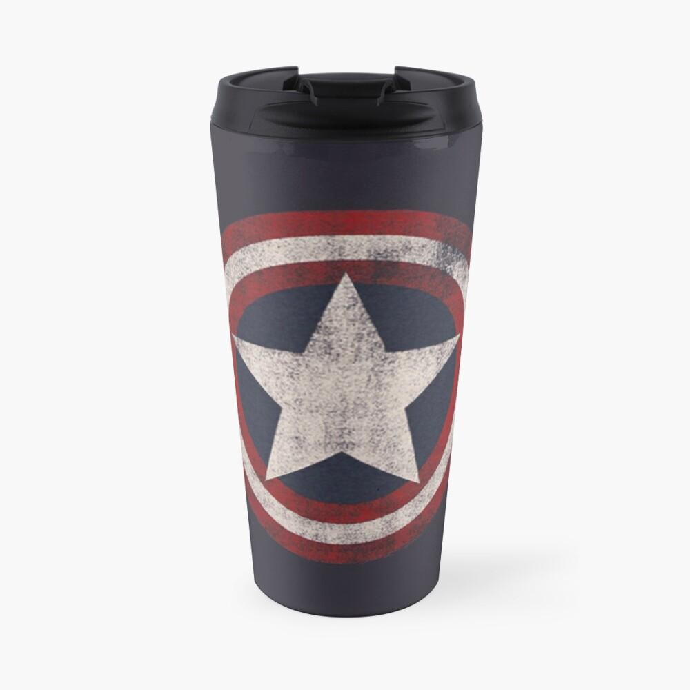 America Hero Shield- Usa flag Travel Mug