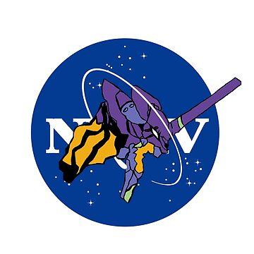 Fly me to the MOON - Neon Genesis Evangelion Eva 01 Nasa by itSof432