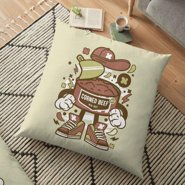 Corned Beef Cartoon Character - Fun illustration for corned beef Lovers ! Floor Pillow