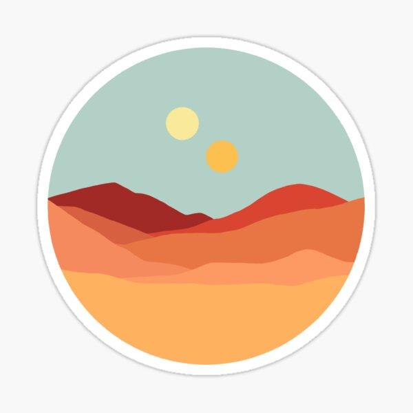 Deux soleils Sticker