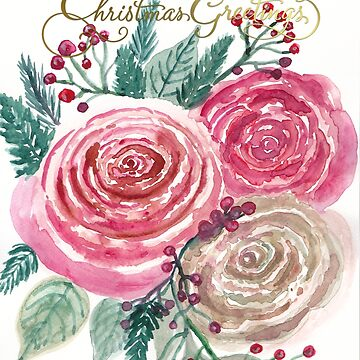 Christmas Roses  by Lallinda