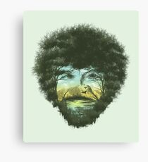 Bob Ross Tree Canvas Print