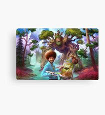 Bob Ross Monster Canvas Print