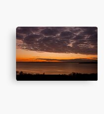 The tail end of a gorgeous sunset Canvas Print