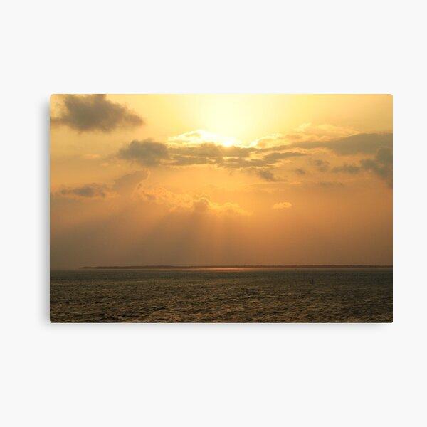 Sunset off Florida Coast Canvas Print