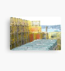 Lobster Traps, Boothbay Harbor, Maine Canvas Print