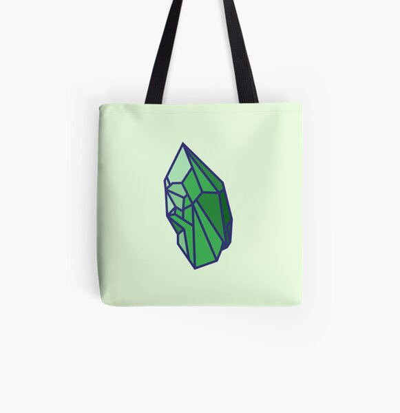 Green Crystal All Over Print Tote Bag