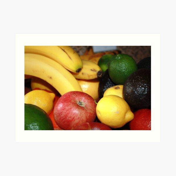 Apples, Lemons, Avocado, Lime Art Print