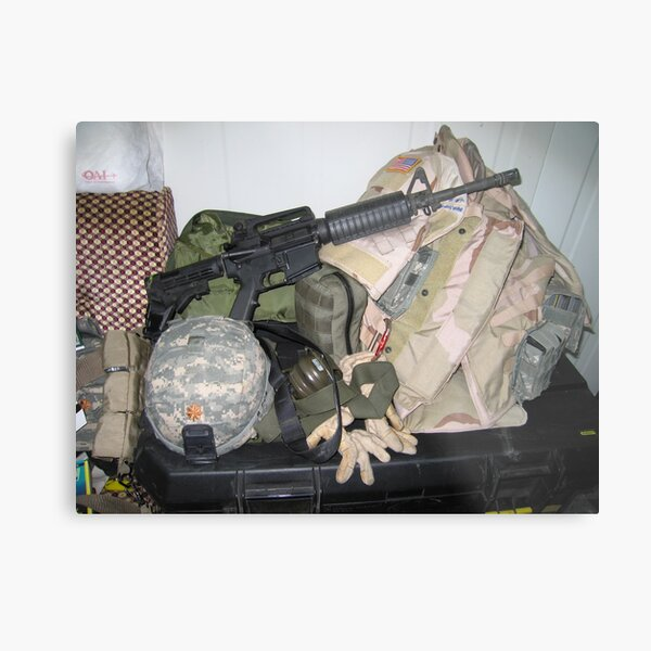 Soldier's Gear at Ready Metal Print
