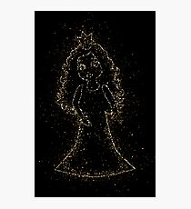 Princess queen crown golden ornament Gold Photographic Print