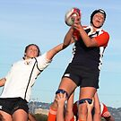Lineout Catch by Vicki Hudson