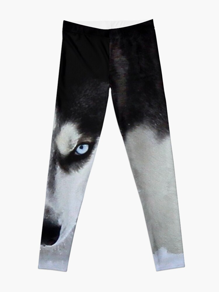 Alternate view of If Looks Could Kill - Black and White Husky Leggings