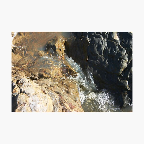 Sea Stream Waterfall Photographic Print