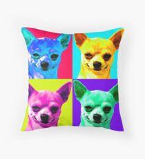 Chihuahua Pop Art Throw Pillow