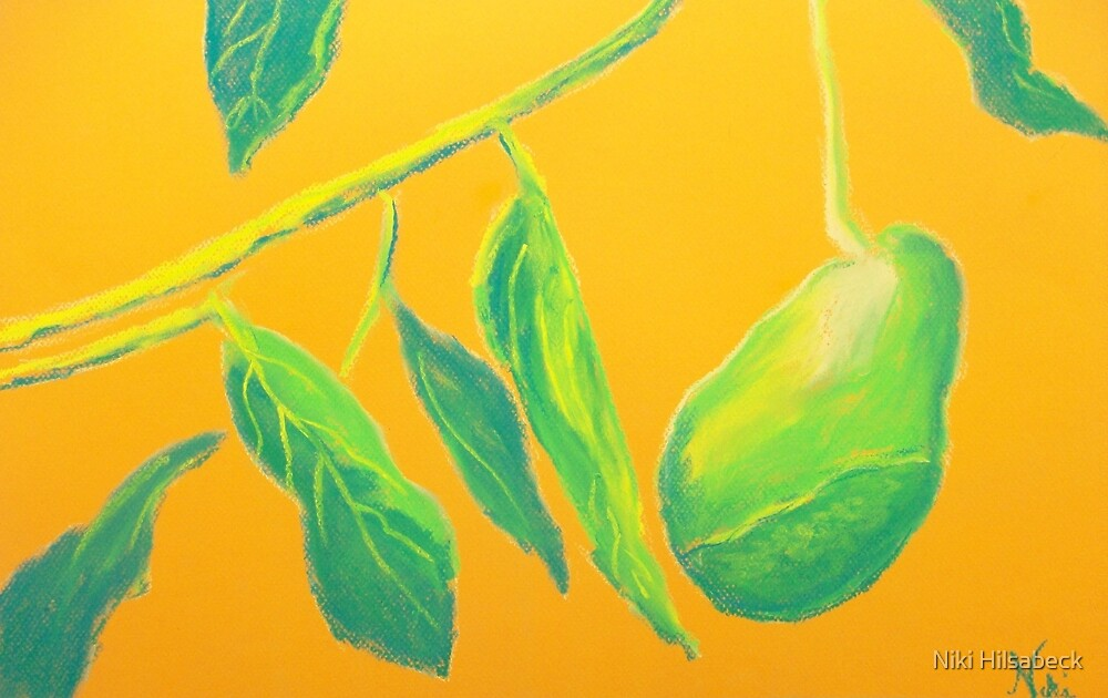 Avocado on the Side (pastel) by Niki Hilsabeck