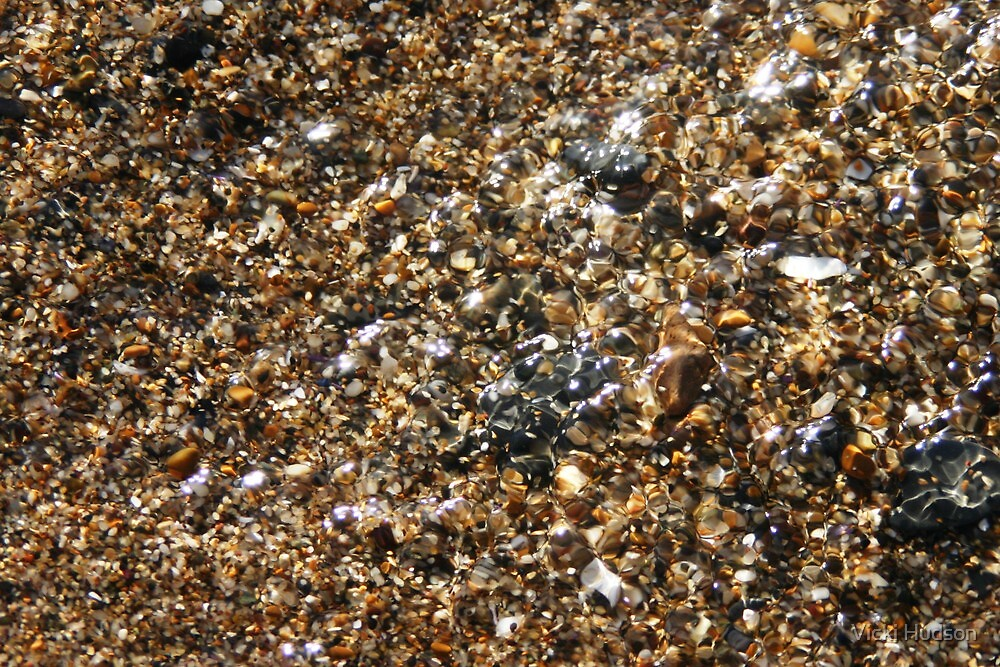 Water on Sand by Vicki Hudson