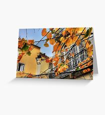 Sintra leaves... Greeting Card