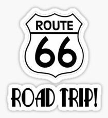 Road Trip on Route 66 Sticker