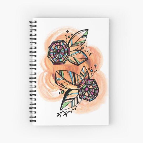 Butterfly Eggs Floral Doodle Spiral Notebook Spiral Notebook