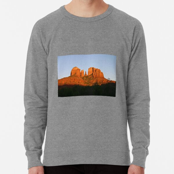 Cathedral Rock as the Sun sets Lightweight Sweatshirt
