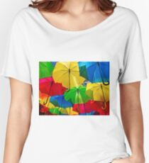 Rainbow Umbrella Walkway Women's Relaxed Fit T-Shirt