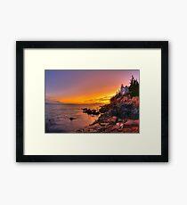 Bass Harbor Sunset Framed Print