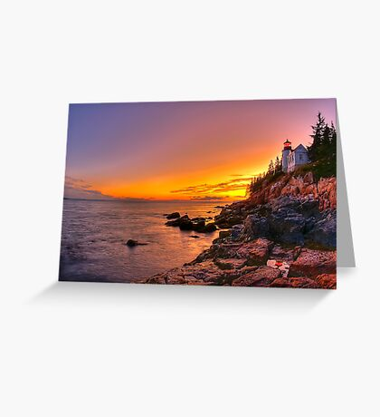 Bass Harbor Sunset Greeting Card