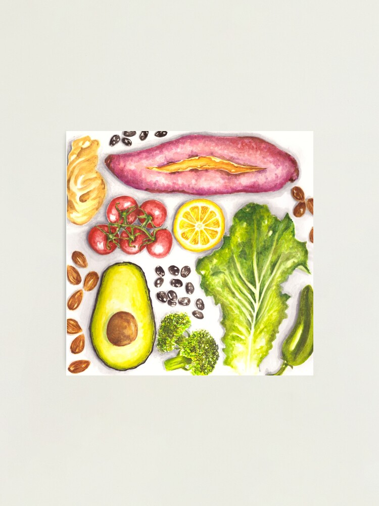 Alternate view of Watercolor Healthy Food  Photographic Print