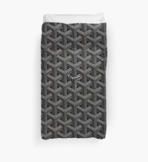 Schwarze Goyard-Bettdecke Bettbezug