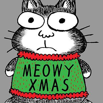 Meowy Weihnachten Weihnachtskatze von jarhumor