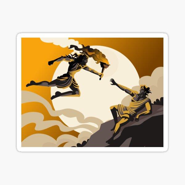 prometheus stealing fire greek mythology Sticker
