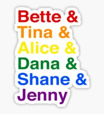The L Word Characters Sticker