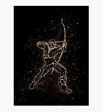 Ork fantasy arrow golden ornament Gold Photographic Print